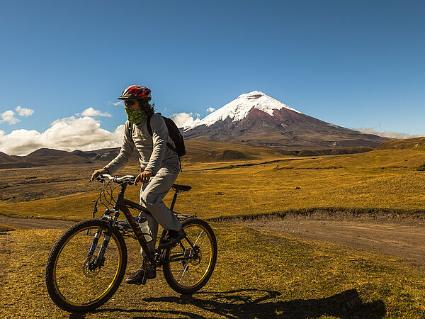 Biking in Copaxi